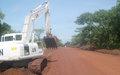 Haut-Uélé: Les Casques bleus remettent en état la route Dungu-Faradje
