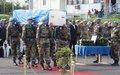Goma: Hommage au Casque bleu tombé au cours d'une patrouille