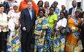 Alan Doss encourage le Collectif des femmes de Goma